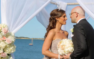 Bride and Groom of Wequassett Luxury Wedding on Cape Cod