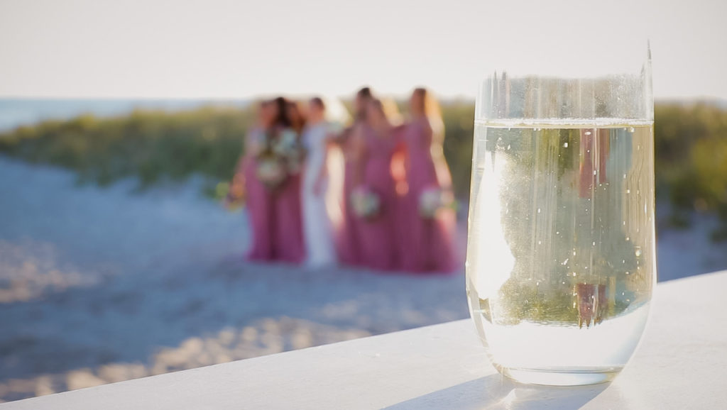 bridal party enjoying Cape Cod wedding
